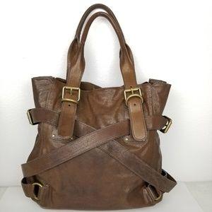 Kooba distressed leather satchel